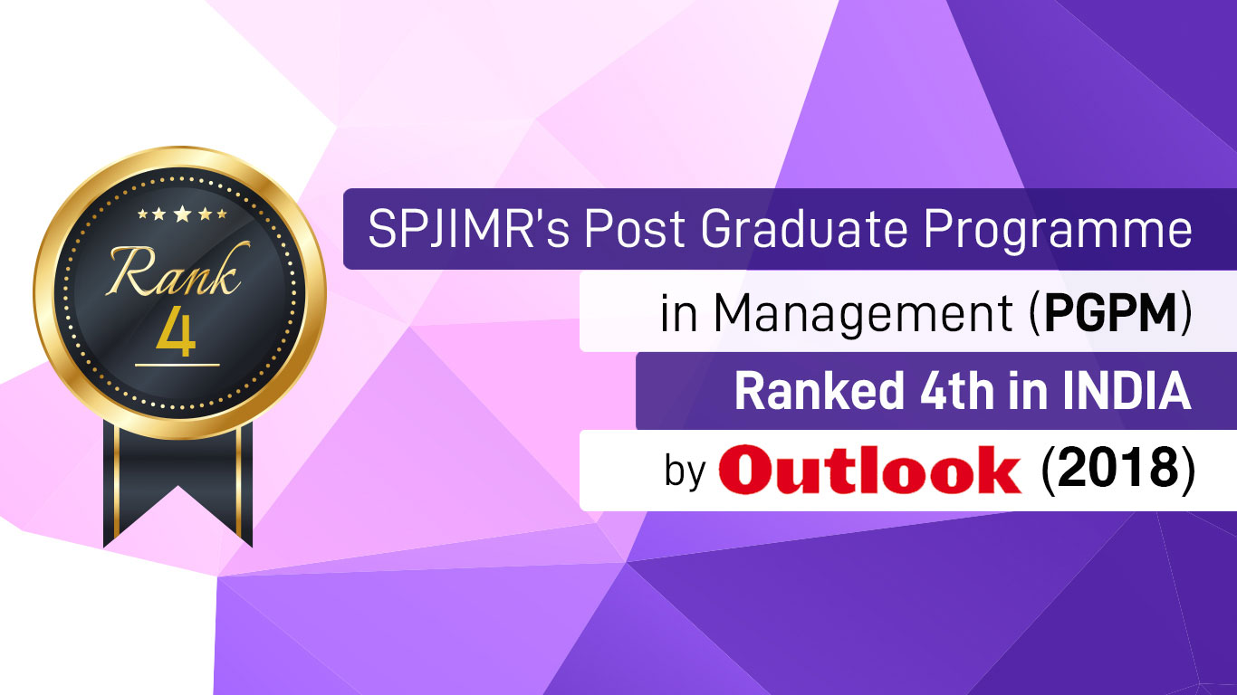 PGPM Ranked 4th by Outlook